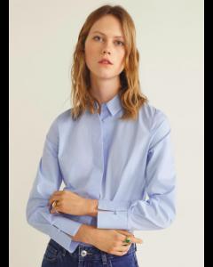 Blue Regular Fit Solid Casual Shirt
