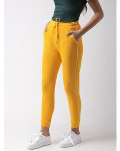 Trendy Yellow Regular Fit Solid Joggers