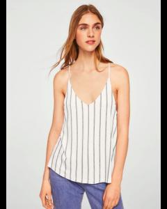 White & Blue Striped Top