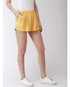 Yellow Solid Skirt