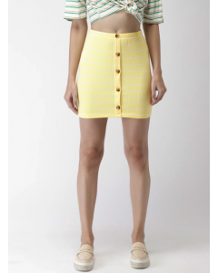 Women Yellow Pencil Skirt