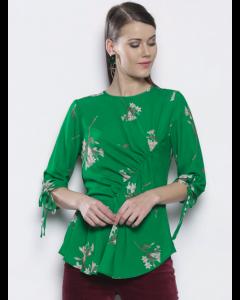 Women Green Floral Top
