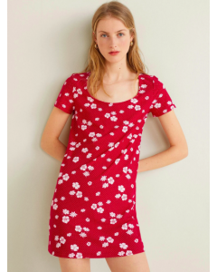 Women Red Floral Dress