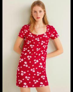 Women Red Floral Dress
