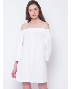 Women White Off Shoulder Dress