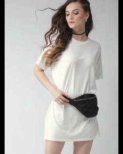 Women White Solid Dress