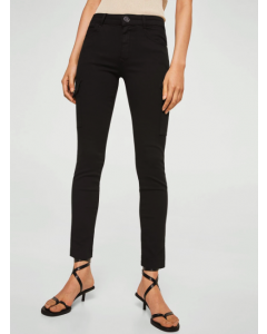 Women Black Solid Casual Trousers