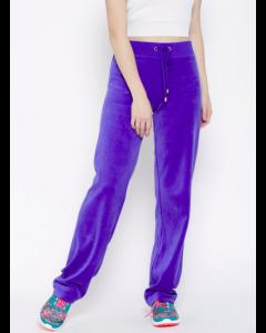 Blue Velvet Finish Track Pants